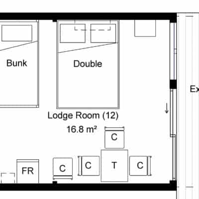 Budget family and group accommodation